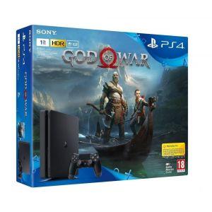 CONSOLE PS4 SLIM JET NOIR 1 To Avec God of War