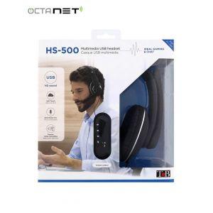 Casque Micro Filaire  USB T'nB HS-500  - Noir