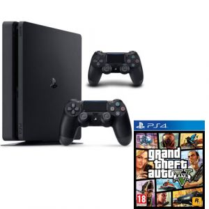 CONSOLE PS4 SLIM / 2 DUAL SHOC / GTA-V