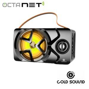 Speaker Rechargable Portable Gold Sound GS-6202