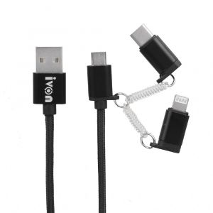 Cable USB İvon  3in1- CA-47