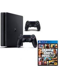 CONSOLE PS4 SLIM / 2 DUAL SHOC / GTA-V