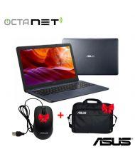 PC Portable ASUS VivoBook N3350 Dual-Core 4Go 1To - Gris